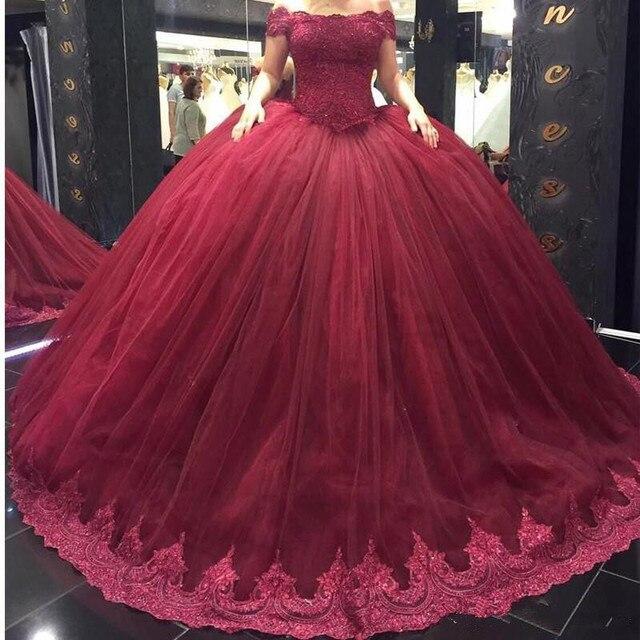 Red Wine quinceanera gowns Sweet 16 dresses vestido 15 anos vestidos de  quinceanera dresses lace robe de bal quinceanera dress daebcf2e5205