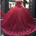 Vinho vermelho quinceanera vestidos Doce 16 dresses vestido de 15 vestidos de 15 anos vestidos de quinceanera quinceanera vestido de renda robe de bal