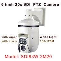 HD SDI 1080P PTZ SDI Camera 2MP 20x Optical Zoom IP66 Waterproof Outdoor Built In Wiper