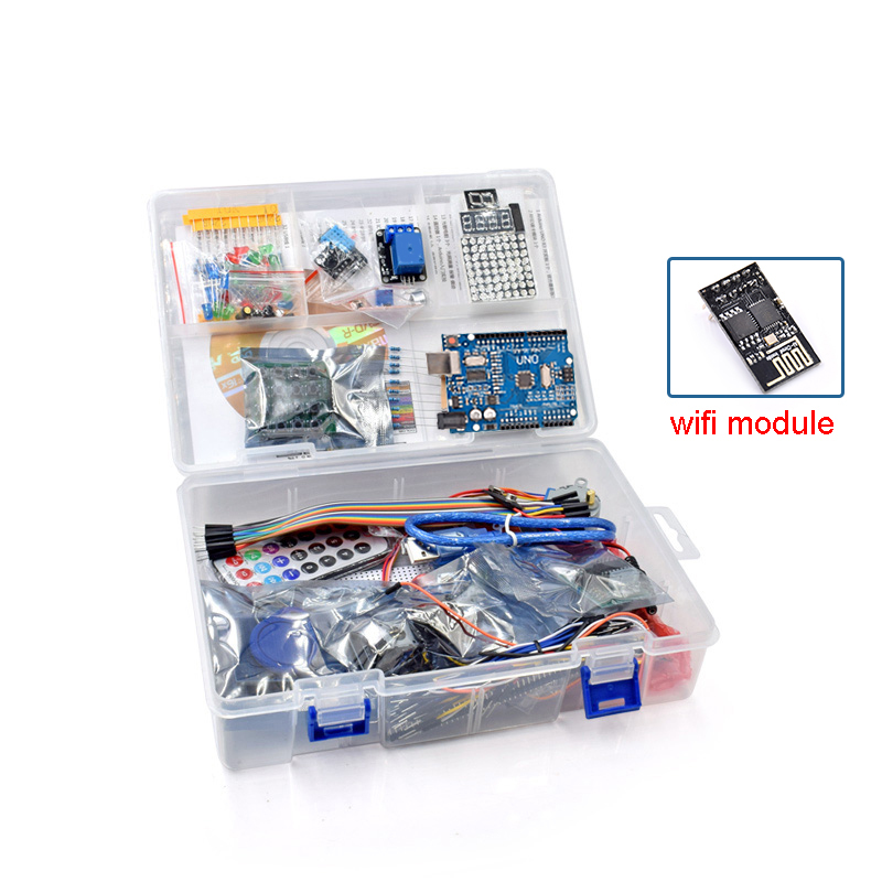 US $28 07 5% OFF|The Most Complete Rfid Starter Kit for Arduino UNO R3  Upgraded Version Learning Suite With Tutorial and Gift ESP8266 Wifi  module-in