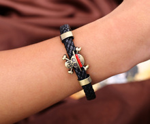 One Piece Skeleton Weave Leather Bracelet