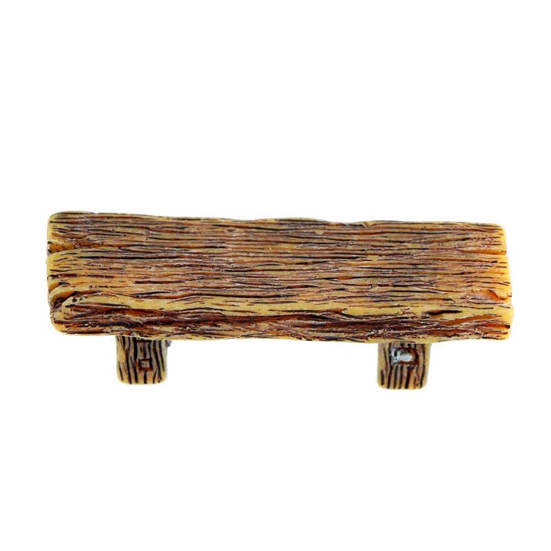 1 pc pvc de madeira fezes móveis fadas jardim ornamento artesanato pátio decoração para casa de bonecas em miniatura moderna paisagem decoração