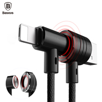 Baseus Magnetic 2 In 1 Reversible USB Cable For IPhone 7 6 6s Plus For Samsung