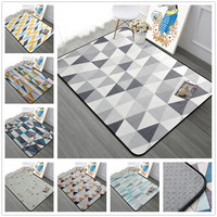 Simple Nordic Carpet Livingroom Home Soft Bedroom Carpets Sofa Coffee Table Rug Study Floor Mat Kids Crawling Rugs Fashion Mats