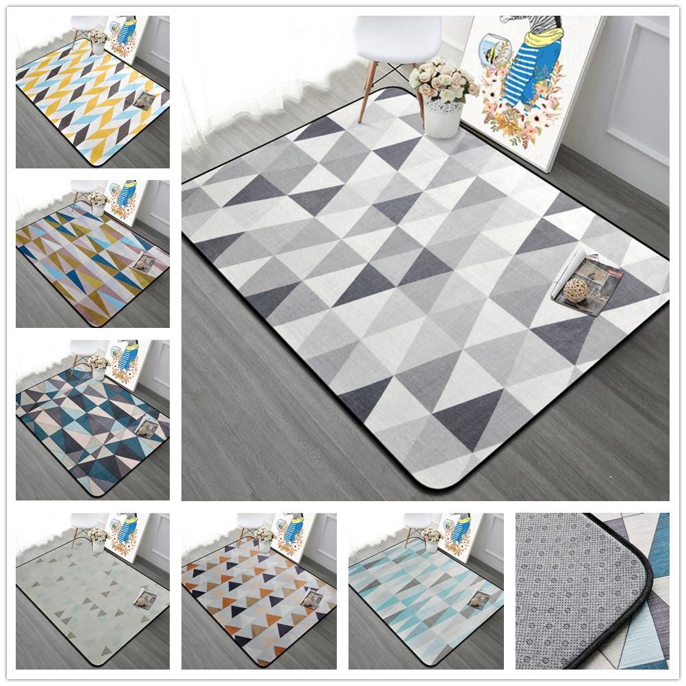 Tapis nordique Simple salon maison chambre douce tapis canapé Table basse tapis étude tapis de sol enfants ramper tapis de mode