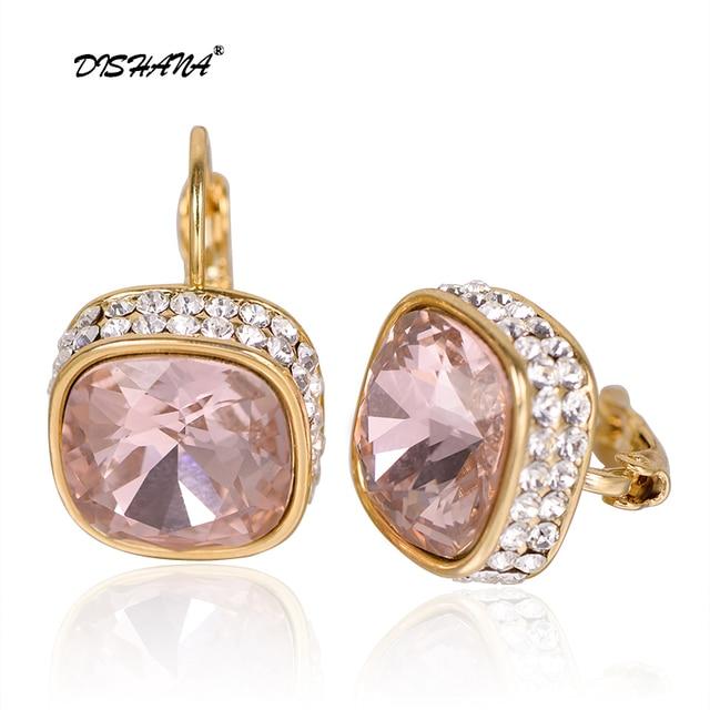 Ювелирные изделия crystal display мотаться подарок очаровательные Модные женские белый камень большие орать оптовая серьги (E0176)