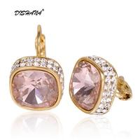 crystal jewelry display dangle earring gift fashion charms women white stone big earing wholesale Drop Earrings(E0176)