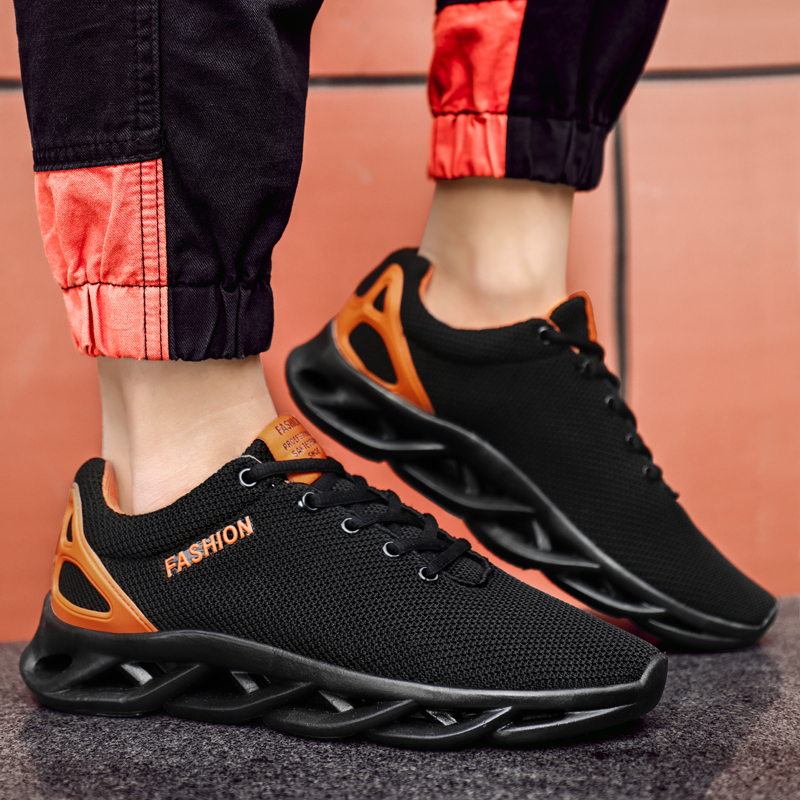 Fashion Trendy Blade Men Shoes Hot Sale Light Weight Mesh Casual Run Increase Sneakers Loafer