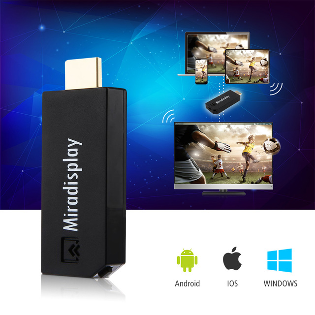Miradisplay TV Dongle 2.4GHz WiFi Miracast Airplay DLNA Chromecast Media Player HDMI 1080P TV Stick For Android IOS Win7