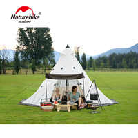Waterproof Tepee Tent Outdoor Party Get-together Pergola Tower Post Hunting Camping Large Family Tent for 3/4/5/6/7/8 Person