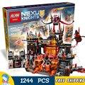 1244 шт. Новый 14019 Сочетание Рыцари Jestros Vulkanfestung модель строительные блоки игрушки Nexus Совместимо С Lego