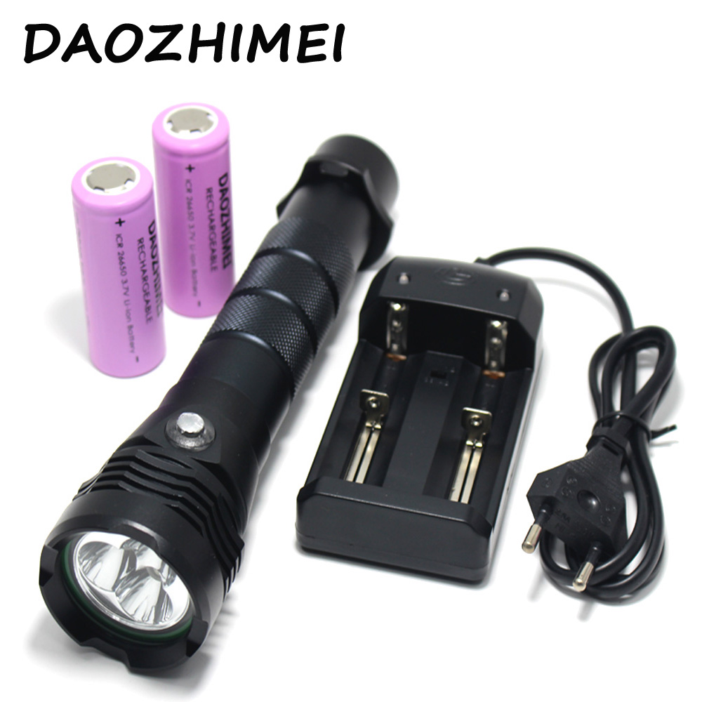 Lights & Lighting New Powerful Waterproof 12x Xm-l2 20000 Lumen Led Scuba Diving Flashlight Underwater Lamp Torch Diver Lanterna By 18650 Or 26650 Reliable Performance