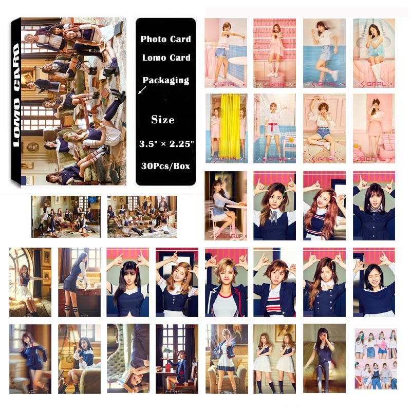 YANZIXG KPOP TWICE Album SIGNAL Self Made Paper Lomo Card Photo Card Poster HD Photocard Fans Gift Collection