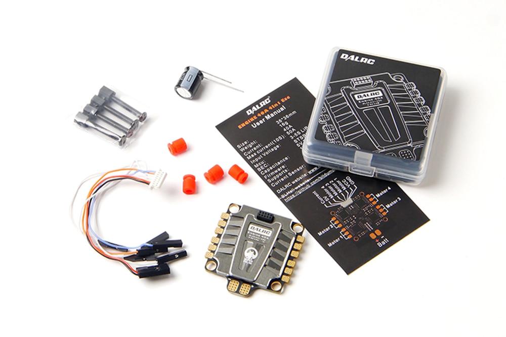 Moteur 4in1 40A 3-5 S Lipo Blheli_32 DSHOT1200 5 V BEC Brushless ESC pour Drone RC FPV
