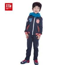 Garçons survêtement enfants sport costume de mode manteau + pantalon 100% coton taille 4-11 ans vêtements pour enfants 2015 printemps enfants vêtements