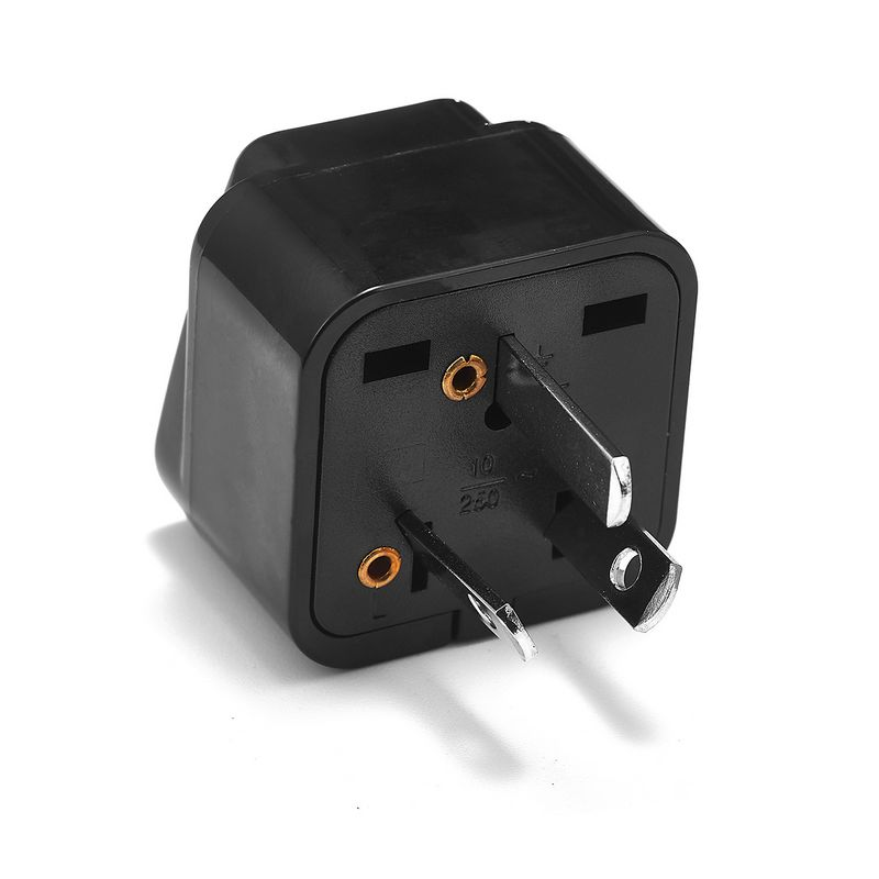 200pcs International AU Australian Power Adapter 3 Pin EU European US To AU Australia Travel Plug Adapter Charger Socket Outlet