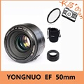 YONGNUO YN EF 50mm f/1.8 AF Lens Aperture Auto Focus YN50mm f1.8 lens +Bag + Lens Hood  for Canon EOS DSLR Cameras