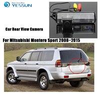 Otomobiller ve Motosikletler'ten Araç Kamerası'de YESSUN Mitsubishi Montero Sport için 2009 ~ 2015 geri dönüşümlü geri görüş kamerası araba park kamerası dikiz kamera HD CCD