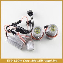E39 120W LED Angle Eyes Halo Xenon Marker Ring Light Bulb Canbus For E39 E53 E60 E61 E63 E64 E65 E66 X5