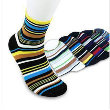 Brand New Autumn 100 Cotton Elegant Stripe Multicolour Mens Socks Business Man Sock Dress Socks 5