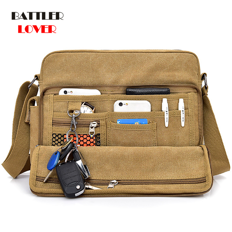 2019 Canvas Multifunction Mens Messenger Shoulder Bags Solid Briefcases Suitcase Card Pocket For Men Women Office Outdoor Travel
