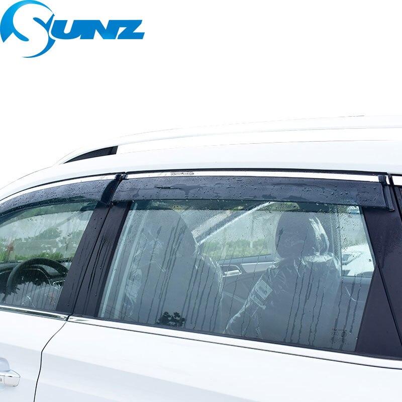 4pcs Blade Side Windows Deflectors Door Sun Visor Shield For Honda ELYSION 2012