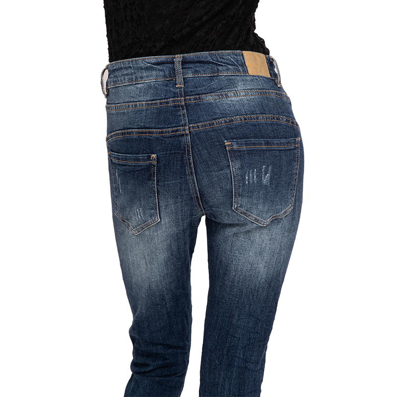 My Will Jeans Mid-Rise Tight-Fitting High-Elastic Cotton Denim Pop Jeans1163 Made In China