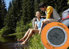 Sunroad SR108S LCD Mini Digital Camping Pedometer Altimeter Compass Thermometer Weather Forecast Time with Carabiner