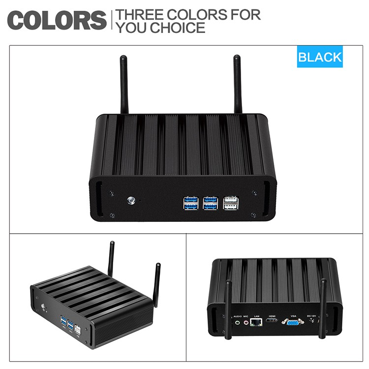 XCY X31 Mini PC with Intel Core i3 4010U i5 4200U i7 4500U CPU Option and 6*USB Ports for Windows 10 Linux 16