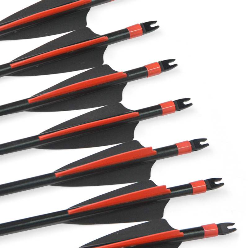 6 12 24pcs Archery Fiberglass Arrow 31inch Spine 500 OD8mm ID6mm Stainless Steel Replaceable Arrowhead Shooting Accessories in Darts from Sports Entertainment