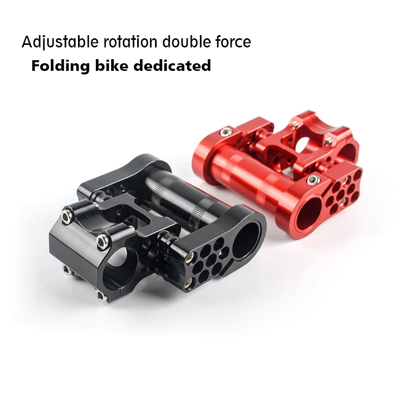 Folding Bicycle Adjustable Double Stem 25.4 mm Aluminum alloy CNC Bicycle Stem ultralight Folding bike stem d09 aluminum alloy bicycle cnc front fork washer blue white 28 6mm