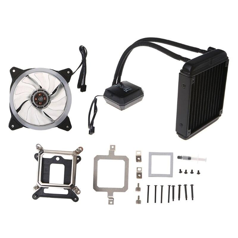 Système de refroidissement de congélateur liquide ventilateur refroidisseur de processeur fluide Kit de radiateur à roulement dynamique