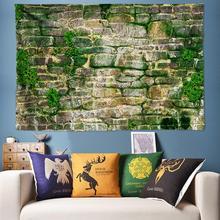 Vintage Moss Brick Wall Art Tapestry Mandala Wall Hanging Boho Decor Psychedelic Tapestry Hippie Wall Fabric Wall Tapestries Big microfiber wall hanging brick wall printed tapestry