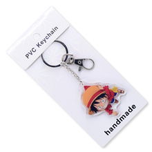 2019 One Piece Keychain Double Sided Acrylic Key Chain Pendant Anime Accessories Cartoon Ring