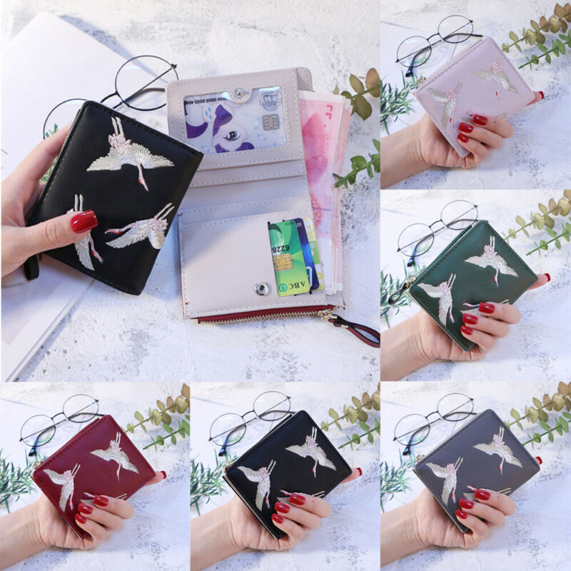 2019 Newest Hot Small Women Buckle Wallet Fashion Lady Embroidery Flamingo Coin Pocket Purse Clutch Bag(China)