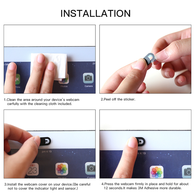 !ACCEZZ WebCam Cover Shutter Magnet Slider Plastic For iPhone Web Laptop PC For iPad Tablet Camera Mobile Phone Privacy Sticker 5