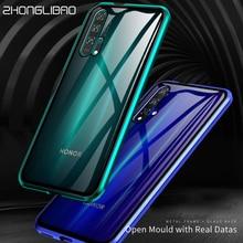 หรูหราโลหะแม่เหล็กสำหรับHuawei P20 P30 Mate 20 Honor 20 Pro Lite V20 20iด้านหน้ากลับแก้วคู่ 360 Full Cover