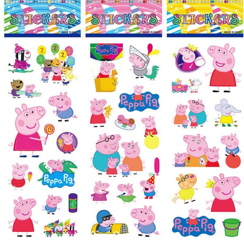 10 stks/partij Kids Cartoon Stickers Speelgoed 3D Waterdichte Jongens Meisjes Bubble Stickers om Pen Doos Schooltas Leerboek Stickers
