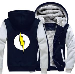 Image 4 - をビッグバン理論シェルドンザ · フラッシュパーカー男性 2019 冬暖かい高品質厚く男性のコートプラスサイズジャケット