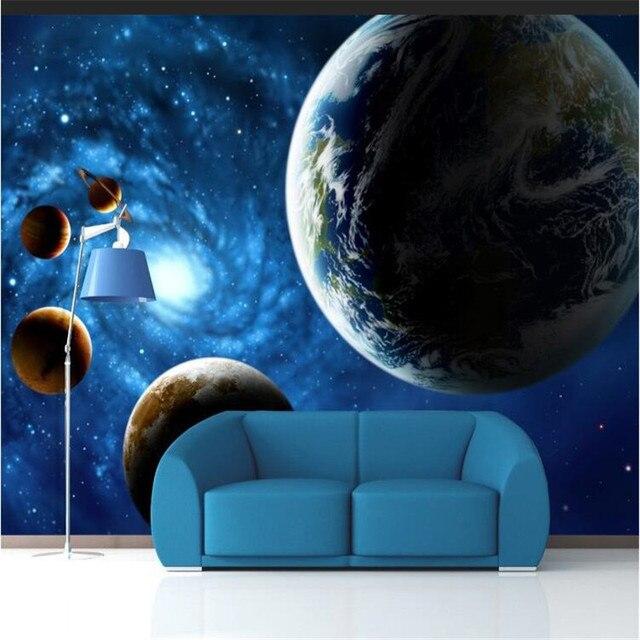 € 11.57 |Personnalisé papier peint KTV bar plafond mur papier univers Star  TV toile de fond chambre salon moderne peinture perspective mur papier dans  ...