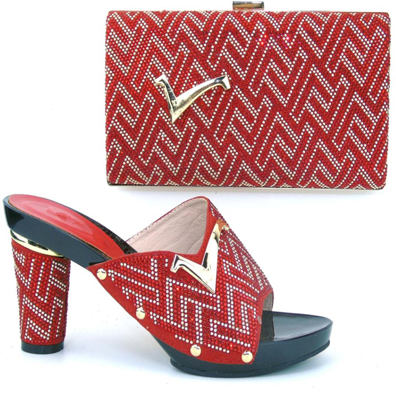 TH16 52 Free Shipping DHL Hot Favorable Italian design shoe and matching bag set Wholesale and