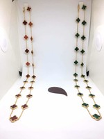 High Quality Black Shell White Onyx Malachite 20 Flowers Clover Necklace Gold Color Natural Shell For