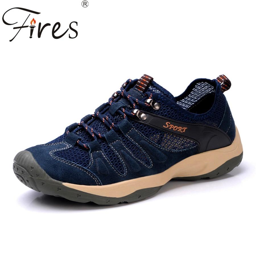 ФОТО Fires New  Men hiking shoes Summer waterproof men trek climbing shoes outdoor Spring  mountain Sports shoes zapatos para caminar
