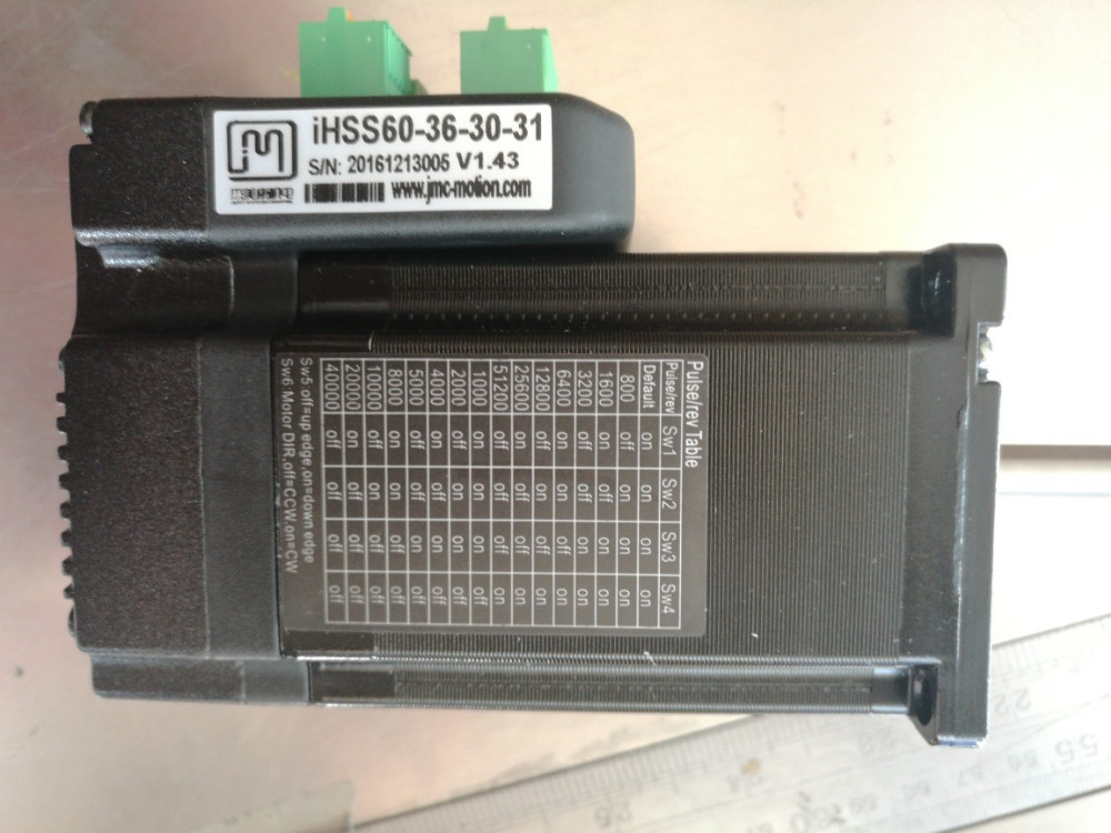 iHSS60-36-30-31 2 phase Hybrid servo system driver integrated encoder servo motor closed loop driver 60mm 3Nm stepper motor JMC nema24 3nm 425oz in integrated closed loop stepper motor with driver 36vdc jmc ihss60 36 30