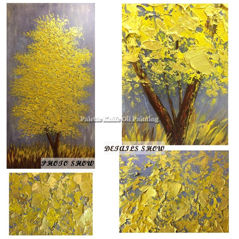Obraz olejny na płótnie cuadros decoracion szpachla 3D tekstura - Wystrój domu - Zdjęcie 6
