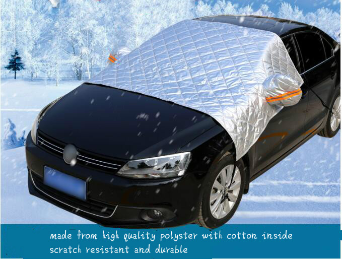 Car Windshield Mirror Snow Cover Winter Protection Frost Cover