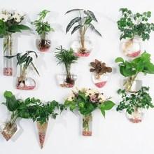 f480b4ba860 Creative Tenture Verre Pots de Fleurs Vase D ornement Paniers Suspendus  Planteur De Jardin Restaurant