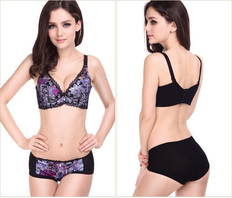 2018 women   bra     set   floral lace sexy underwear women   bra   &   brief     sets     bra   push up lingerie   set     bra
