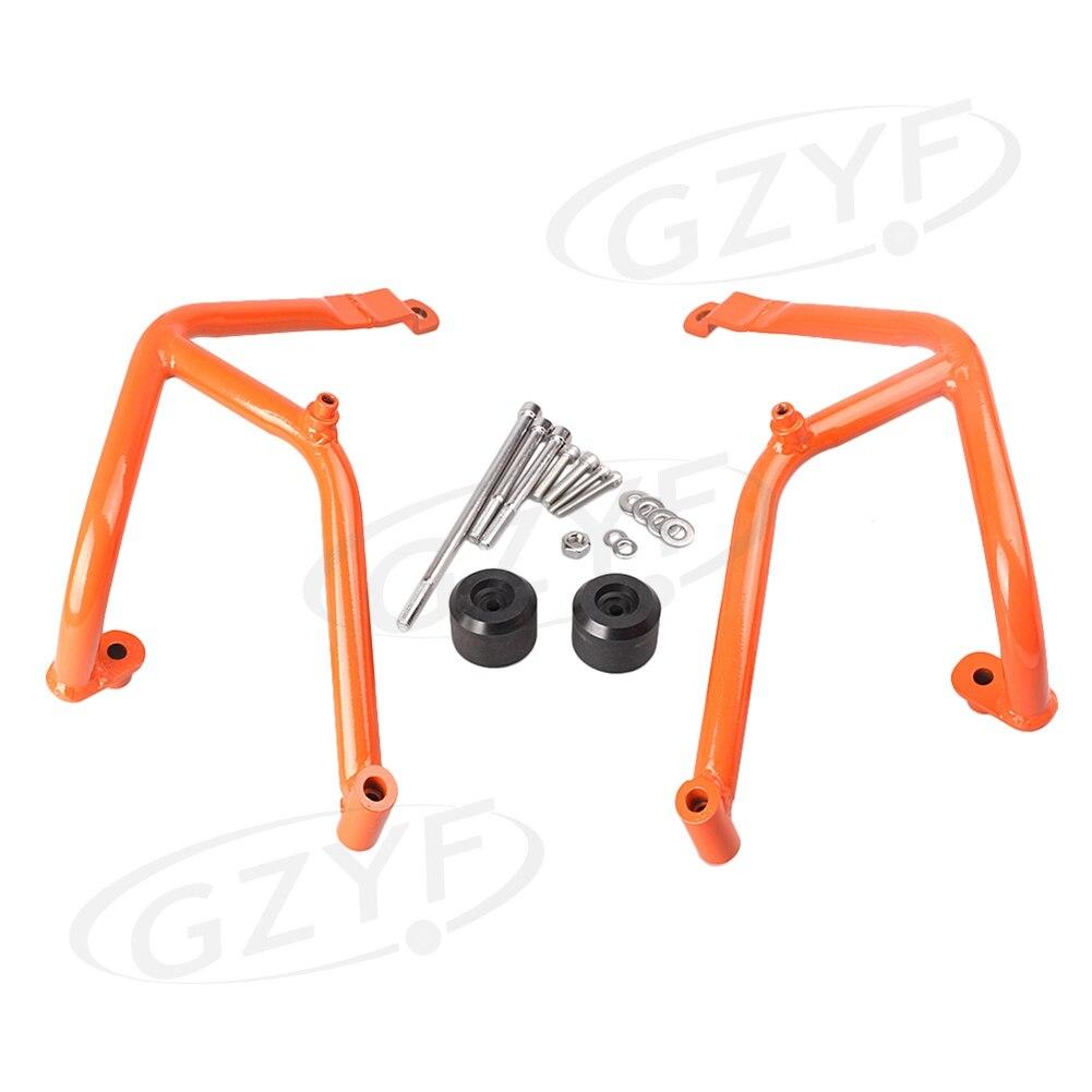 GZYF двигателя мотоцикла гвардии шоссе Крушение Бар протектор Replacment комплект для KTM DUKE 390 2013 2015 оранжевый
