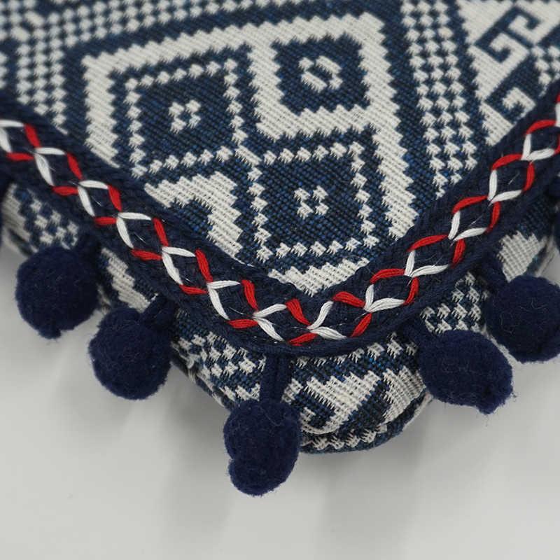 8500185eccb ... LilyHood Clutch Shoulder Bag Women Boho Chic Bohemian Gypsy Aztec Ibiza  Tribal Cotton Pom Pom Cute ...
